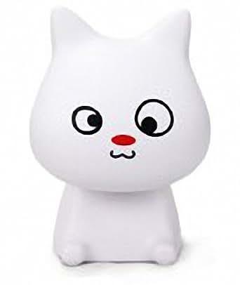 Dandelion Dreams super mignon Cat LED lampe de table créative minimaliste lampe de chevet de chambre à coucher de l'humeur rechargeable lampe de lecture et d'apprentissage Le meilleur cadeau pour votre petite amie. Le meilleur cadeau pour vos enfants.blanc