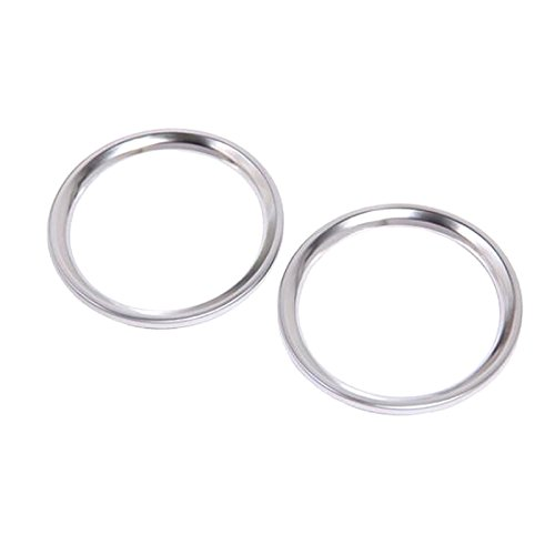 Chrom ABS VORNE Tür Stereo-Lautsprecher Ring Trim 2 Iso Trim Ring