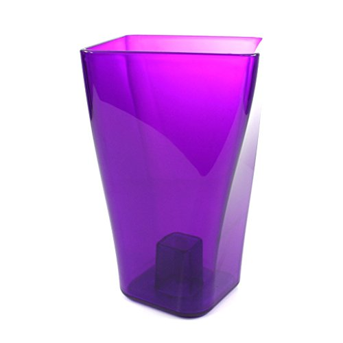 MultiBros Deko Vase Blumenvase transparent violett