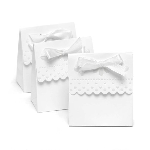 Hortense B. Hewitt Wedding Accessories Favor Boxes, White with Scalloped Edges, 25 Count by Hortense B. Hewitt Scalloped-edge-box