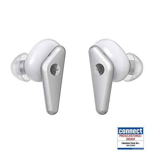 Libratone TRACK Air+Écouteurs True Wireless à Réduction de Bruit Réglables (24h d'Autonomie, ANC, Résistant à la Sueur et aux Éclaboussures jusqu'à IPX4, Bluetooth 5.0) - Blanc