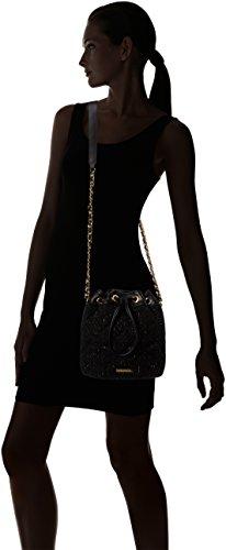 Juicy Couture  Westside Bucket, Sacs bandoulière femme Black (pitch Black Speckled)