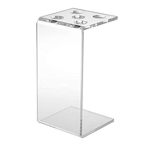 oshidede Scherenhalter Box, Professionelle Friseur Kämme Clips Friseur Acryl Transparent Organizer Rack