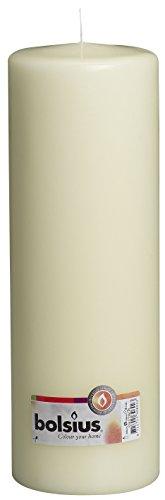 BOLSIUS Qualitäts - Stumpenkerze 300 x 100 mm elfenbein