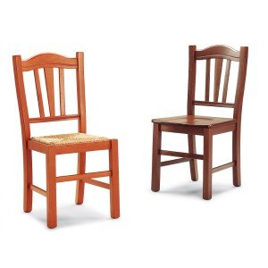 Mobili Ilar Lot 2 chaises Silvana - Noyer 122 Abattant Bois