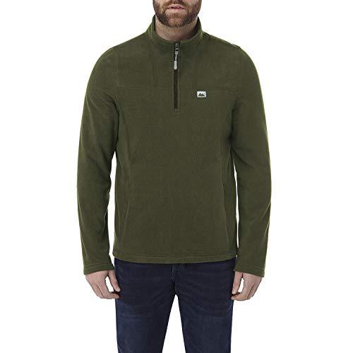 Lakeland Active Men's Caldbeck Quarter Zip Midlayer Fleece - Moss Green - XXL (Quarter-zip Fleece)