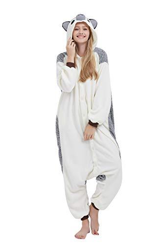 Fandecie Tier Kostüm Tierkostüm Tier Schlafanzug Igel Pyjamas Jumpsuit Kigurumi Damen Herren Erwachsene Cosplay Tier Fasching Karneval Halloween (Igel, M:Höhe 160-169cm)