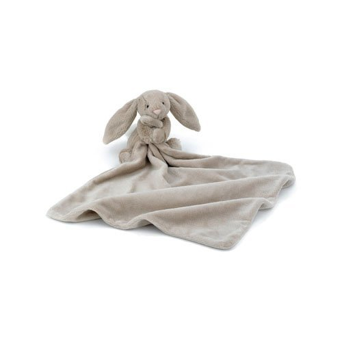 Image of Jellycat Bashful Beige Bunny Soother Blankie Color: Beige Bunny Model: SO4BB