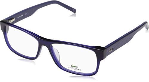 cc4d2be5aa Lacoste L2660 424 55 Monturas de gafas, Rectangulares, 55, Blue