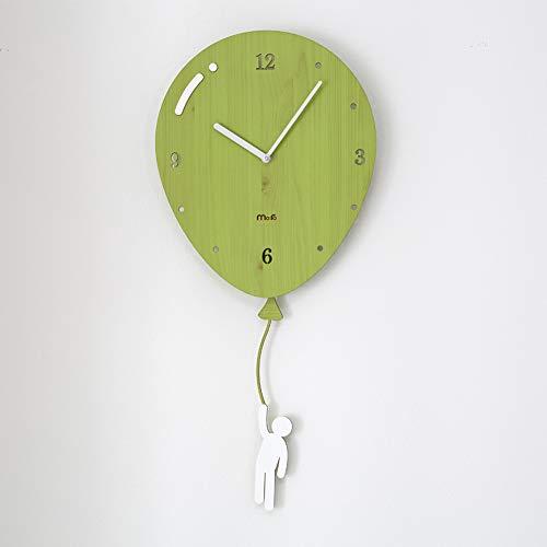 Ibalody altalena in legno europeo muto orologio da parete moderno soggiorno camera da letto muto bambini fumetto creativo parete tocsin personalità quarzo decorativo da parete per la casa