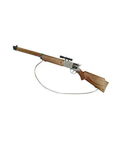 NET TOYS Fusil Arizona 8 coups 640 mm noir-marron carabine western arme /à chargement par la culasse cowboy p/étard Texas fusil jouet sh/érif