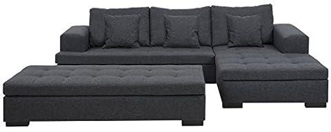 Sofa 2-sitzig Chaiselongue in grau