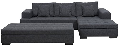 Sofa 2-sitzig Chaiselongue in grau