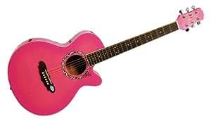 GYPSY ROSE - GRA1K/R - pack guitare acoustique rose