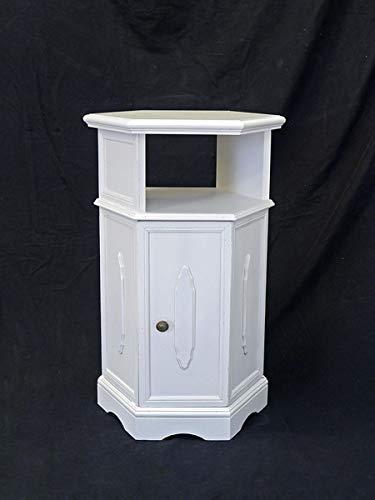 Antike Fundgrube Beistelltisch Beistellschrank Telefontisch 70iger Jahre Shabby Chic weiß (8400)