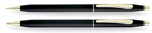 Cross Classic Century Kugelschreiber und Bleistift Set (Strichstäke M und 0,7 mm, nachfüllbar, inkl. Premium Geschenkbox) mattschwarz