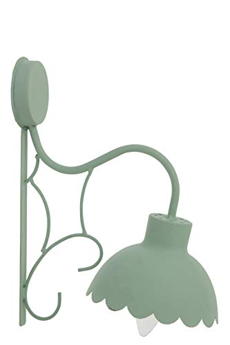 Lampe Murale Fleur Candy MET Vert Clair (16x25x31cm) JOLIPA JLINE 91443