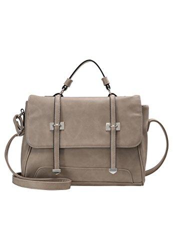Even&Odd Umhängetasche Damen im Messenger-Style – Schultertasche in Grau (Purse Messenger Handtasche Bag)