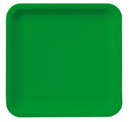 Emerald Green Square Dinner Plates Party Accessory Green Square Dinner Plate