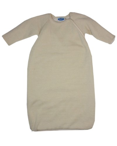 Baby & kinder, sacco a pelo invernale, per bambini, con maniche lunghe, in lana merino kbt, cotone organico