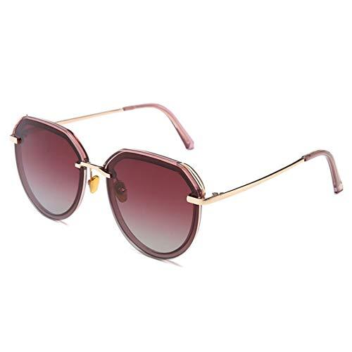 DXMR UV-/Strahlungsschutz, polarisierte Sonnenbrille, Retro-Sonnenbrille, Metallrahmen, kleine Sonnenbrille, Anti-Reflective Spectacles