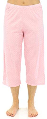 Sleepyheads Ensemble de Sleepyheads Ensemble de pyjama femme manches courtes et capri coton vêtement de nuit Roses à Pois Blancs