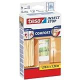 tesa 5 x Fliegengitter Insect Stop Comfort Tür 0,65x2,20m 2 Stück weiß