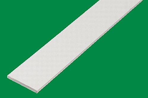 BawiTec PVC Abdeckleiste Kunststoffleiste Flachleiste 50mm 600cm Kunststoff Flachprofil weiß