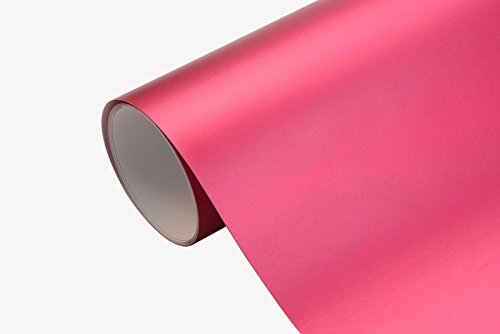 12,20€/m² Auto Folie - Chrom Matt Pink - selbstklebend BLASENFREI flexibel Car Wrapping Klebefolie folieren