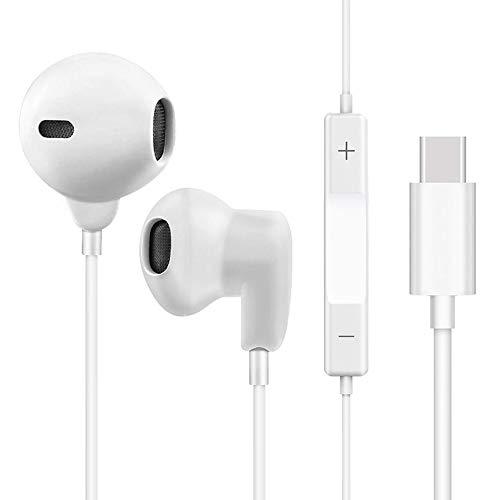 Yeebline - Auriculares USB Tipo C Mando Distancia
