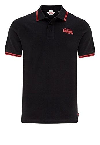 "Lonsdale ""Bridlington"" Polo (schwarz/gelb) Black/Red"