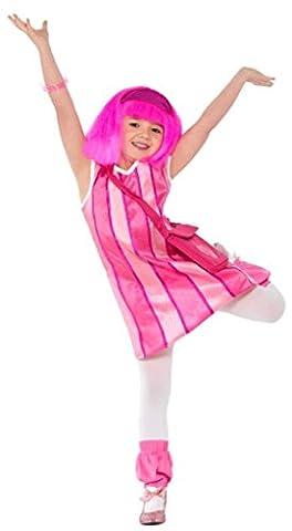 Smiffy's - Lazy Town Kost?m Stephanie Kleid, Stulpen und Tasche 3-4 Jahre (Stephanie Lazy Town Kostüm)