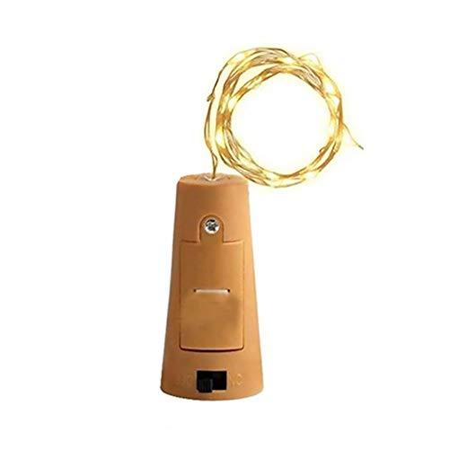 Cadenas de luz Bombilla Corcho batería Tiras LED Velas de luz Warm White Botella de Vino de Alambre de Cobre Luz Cadenas para decoración Cuerda String lámpara