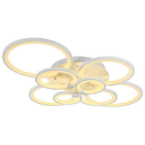 LED Deckenleuchte 6067-8 mit Fernbedienung Lichtfarbe/Helligkeit einstellbar Acryl-Schirm weiß lackierte Metallrahmen Design A+ (6067-8 148W)