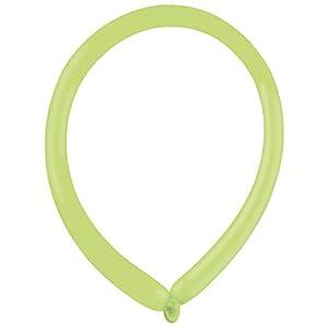 amscan 9905520 Fashion E160 - Globos de látex (100 Unidades), Color Verde
