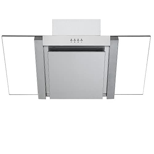 31bx%2BtZd0mL. SS500  - Angled Glass Extractor Fan | Cookology ANG905SS Unbranded 90cm Angled Glass Chimney Cooker Hood in Stainless Steel