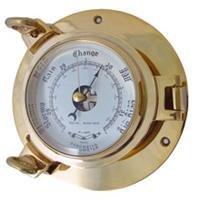 Brass Porthole Barometer
