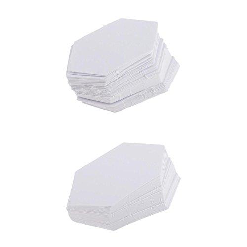 Gazechimp 200er Steppvorlagen Schablonen Vorlagen für Näharbeiten aus papier 4.2cm / 7.9cm