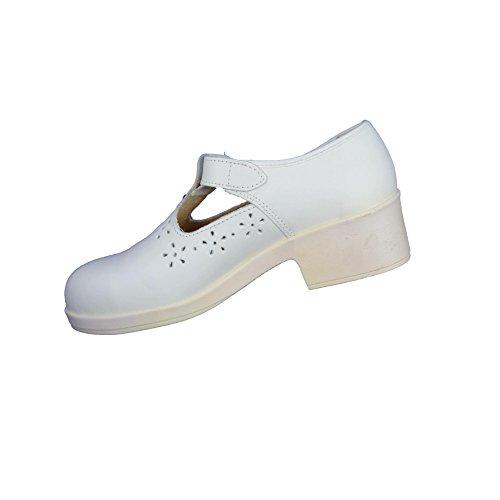 Jallatte Paola PB Sicherheitsschuhe Berufsschuhe Sandale weiß B-Ware Weiß