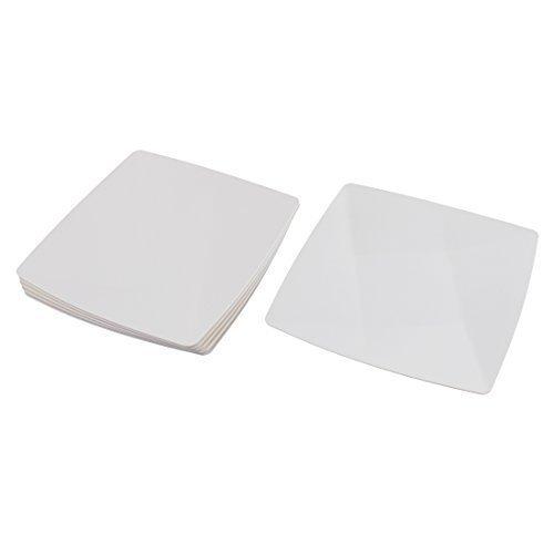 sourcingmap® Ristorante del pranzo di forma quadrata, in plastica, per alimenti, 43 cm x 43 cm, confezione da 6 pezzi