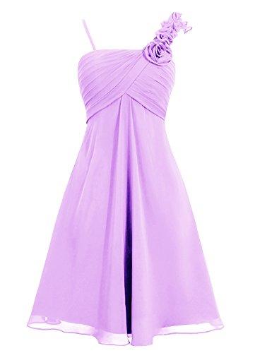Dresstells Damen Brautjungfernkleider Kurz Homecoming Kleider Mit Zwei Träger Lavender