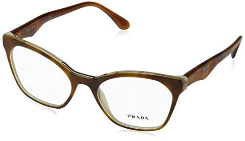 Prada Frauen PR 09Uv Brillen Licht Havana/gestreiftes Weiß