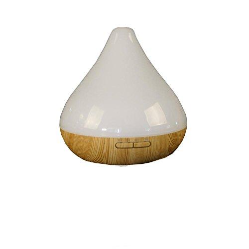 CFZHANG Hölzerne Ultraschall-Luftbefeuchter Kreative Aromatherapie 300ml Multi-Speed-Timing Bunte Nachtlicht Büro Haus Geschenk , white semi transparent