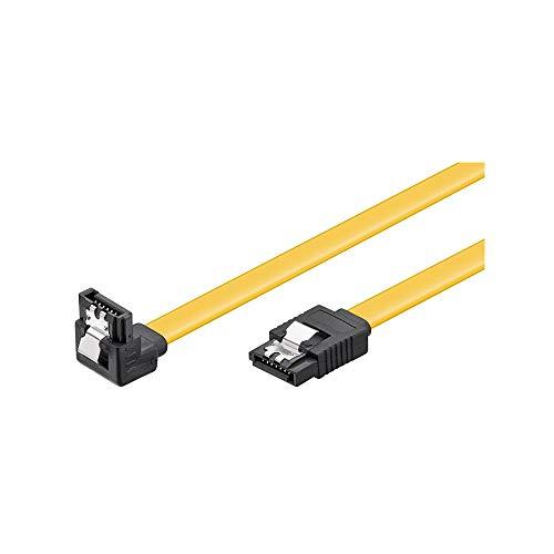 Goobay HDD S-ATA Kabel 90° gewinkelt L-Type Stecker gelb 0,5m