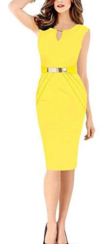 SunIfSnow Damen Schlauch Kleid, Einfarbig Gr. XXL, (Pink Up Tank Top Dress)