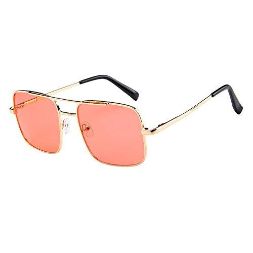 Honestyi Frauen Männer Vintage Retro Brille Unisex Mode Übergroßen Rahmen Sonnenbrille Eyewear GD005 mit doppeltem Strahl und großem