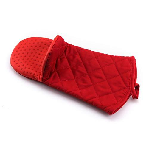 RONGLINGXING Handschuhe Graceful Bunte Silikon-Ofen Hot Mitts - 1 Paar hitzebeständiger Topflappen & Backhandschuhe - Lebensmittelecht mit weichem Innenfutter (Color : Red) - Hot Mitt