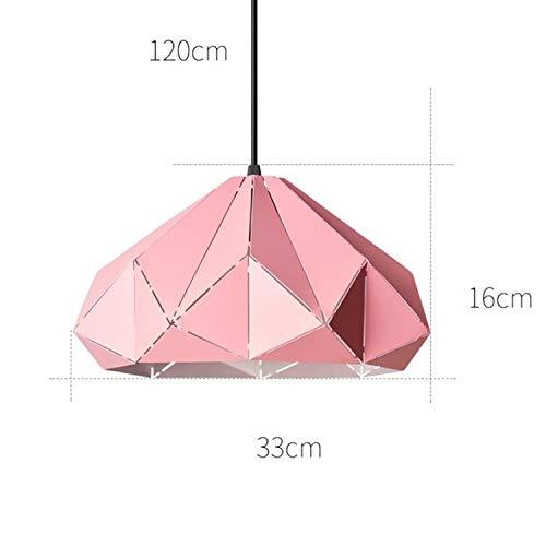 LUCKY CLOVER-A Pendelleuchte, nordischen Stil kronleuchter deckenleuchte bibliothek Flur büro tagungsraum esszimmer Bunte lampenschirm innenbeleuchtung, 33 * 16 cm