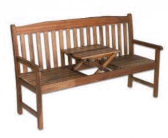 """Holzbank """"Palu"""", mit Tischchen, Akazie"""