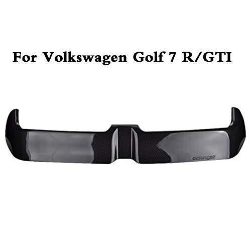 AniFM Heckspoiler passend für alle VW Golf 7 MK7 GTD/GTI R, Carbon Heckspoiler schwarz glänzend,OneSize